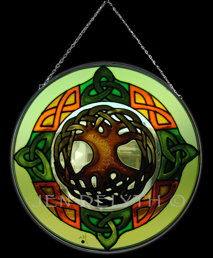 Celtic Tree of Life Stained Glass Celtic Art by Welsh ...