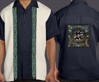 Celtic Cuban Retro Men's Shirt with CELTIC TREE OF LIFE By Jen Delyth