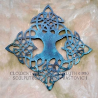 Elemental Tree of Life Metal Sculputre jen delyth celtic art studio