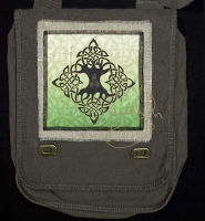 ELEMENTAL TREE of LIFE artPATCH Canvas Field Bag By Jen Delyth