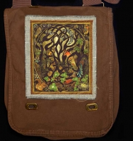 WOODLAND FOX artPATCH Canvas Field Bag By Jen Delyth