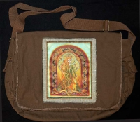 MELANGELL of the hares artPATCH Canvas Messenger Bag By Jen Delyth