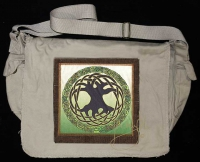 TREE OF LIFE MANDALA artPATCH Canvas Field Bag By Jen Delyth