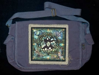 CELTIC TREE OF LIFE MANDALA artPATCH Canvas Field Bag By Jen Delyth