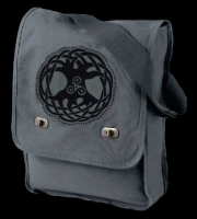 TREE OF LIFE - Canvas Field Bag on Steel Grey