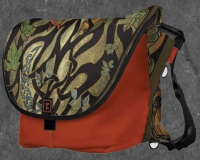 Woodland Fox Modern Mythic Rickshaw Messenger Bag jen delyth