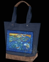 MANAWYDDAN Man of the Sea Celtic artPATCH Canvas Resort Tote bag By Jen Delyth
