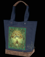 TREE SONG Celtic artPATCH Canvas Resort Tote bag By Jen Delyth