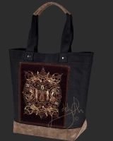 WOLF MOON Celtic artPATCH Canvas Resort Tote bag By Jen Delyth