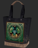 YGGDRASIL World Tree Celtic artPATCH Canvas Resort Tote bag By Jen Delyth