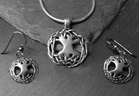 Celtic Tree of Life - Medium Sterling Silver Celtic Pendant By Jen Delyth