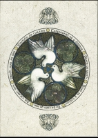 DOVES peace Greeting Card By Jen Delyth