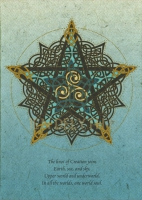 PENTACLE KNOT Greeting Card By Jen Delyth