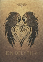 RAVENS HEART Celtic Card By Jen Delyth