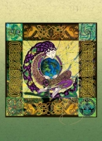 ANU EARTH MOTHER Greeting Card By Jen Delyth