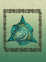 Celtic Healers Greeting Card By Jen Delyth