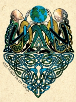 AOIS DANA CELTIC POETS Greeting Card By Jen Delyth