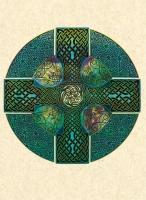 CELTIC CROSS Greeting Card By Jen Delyth