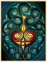 DRUID'S EGG Greeting Card By Jen Delyth