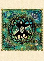TREE OF LIFE mandala Greeting Card By Jen Delyth