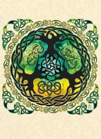 YGGDRASIL world tree Greeting Card By Jen Delyth