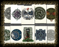 Celtic Notecards Recyled Paper by Jen Delyth