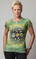 Tree of Life - Short Sleeved T Shirt by Jen Delyth