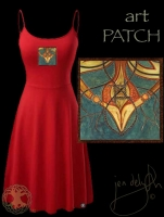 Brighid artPATCH dress by Jen Delyth