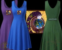CELTIC ANU earth mother Tank Flared Dress By Jen Delyth