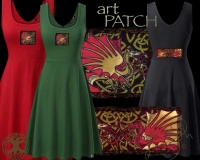 CELTIC DRAGONS Y Ddraig Goch Dress by Jen Delyth