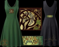 CELTIC MOON Tank Flared Dress By Jen Delyth