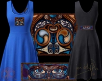 CELTIC OWL Blodeuwedd Tank Flared Dress By Jen Delyth