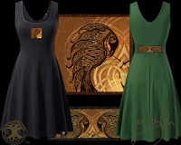 Ravens Heart Tank Flared Dress By Jen Delyth