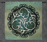 Antlers & Moons Fine Art Tapestry