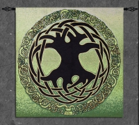 Celtic Tree of Life Fine Art Tapestry