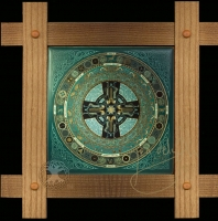 DANU FOLK - Celtic Mandala Wood Framed Tile