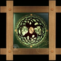 Celtic TREE OF LIFE MANDALA  Wood Framed Tile by Jen Delyth