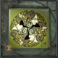 EPONA celtic horses -  Iron Framed Tile