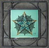 PENTACLE KNOT Iron Framed Tile