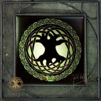 CELTIC TREE OF LIFE Iron Framed Tile by jen delyth