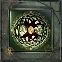 CELTIC TREE OF LIFE MANDALA Iron Framed Tilex by jen delyth