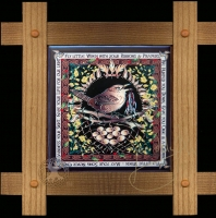 CELTIC WREN Wood Framed Tile