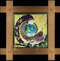 ANU -Celtic Earth Mother Wood Framed Tile
