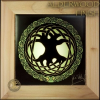 CELTIC TREE OF LIFE Wood Framed Tile