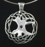 CELTIC TREE OF LIFE - Large Sterling Silver Celtic Pendant By Jen Delyth