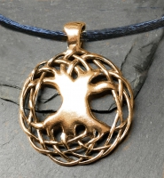 "CELTIC TREE OF LIFE   Special Edition 14K SOLID GOLD 1 1/4"" Large Pendant (actual price will be added with options)"
