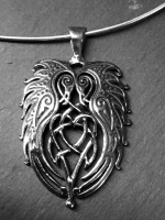 TRISKELION - Large Sterling Silver Celtic Pendant By Jen Delyth