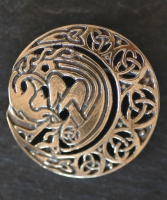 ARIANRHOD - MOONSPIRIT Bronze Celtic Brooch By Jen Delyth