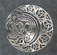 ARIANRHOD moonspirit - Sterling Silver Celtic Brooch By Jen Delyth