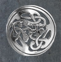 KATS sidhe - Sterling Silver Celtic Brooch By Jen Delyth